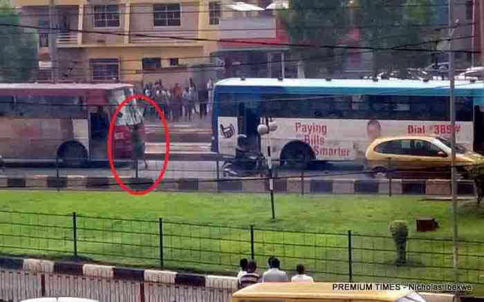BRT Buses, Soldier Caught on Camera at scene