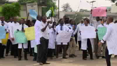 Protesting Doctor in Lagos State